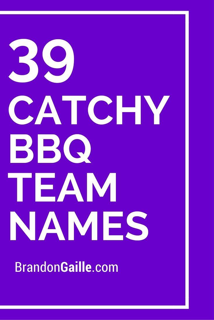 39 Catchy BBQ Team Names