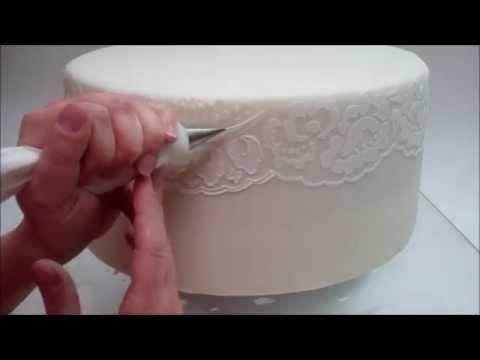 Evil Cake Genius Lace Stencils ❤ https://www.youtube.com/watch?v=-6ddYRlvhSM