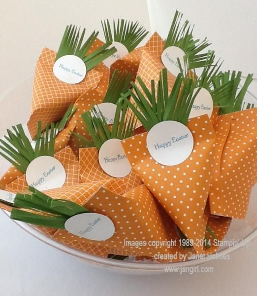 Easter carrot sour cream treat holders by holmesj - Cards and Paper Crafts at Splitcoaststampers