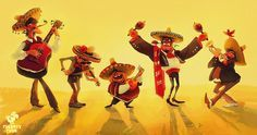 Mariachi by Tata Che | Cartoon | 2D | CGSociety