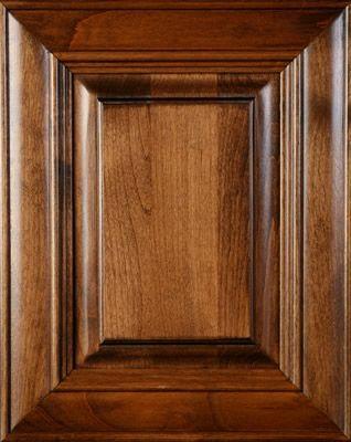 Walnut Stained Kitchen Cabinets