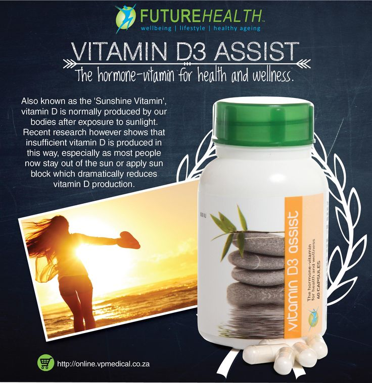 Vitamin D3 Assist Also known as the 'Sunshine Vitamin', Buy online and get 10% off http://online.vpmedical.co.za/index.php?route=product/category&path=64 #VitaminD #FutureHealth