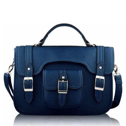 Satchels   Dark Navy Classic Buckle Satchel Bag http://www.satchelsandshoes.co.uk/products/dark-navy-classic-buckle-satchel-bag
