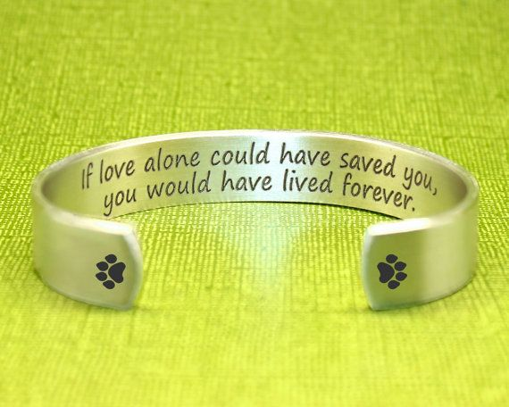 Pet Memorial Gifts | Bereavement Gifts | Condolence Gift | Dog Memorial Gift | Cat Memorial Gift | Custom Bracelet by Korena Loves