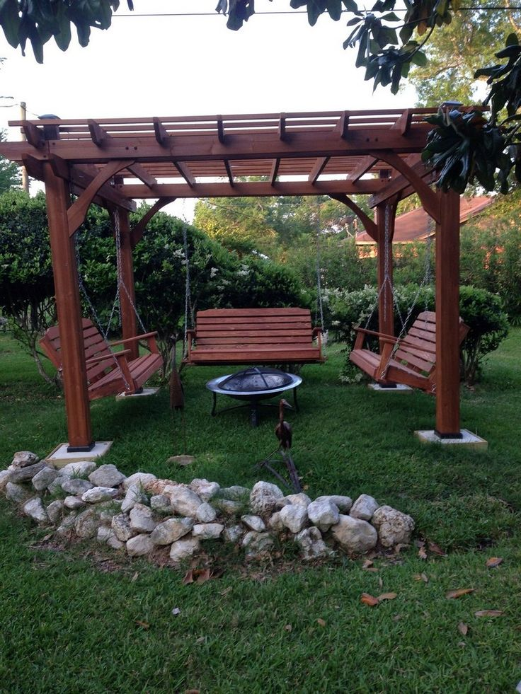 20 Exciting Porch Swings Fire Pit Design Ideas Garden