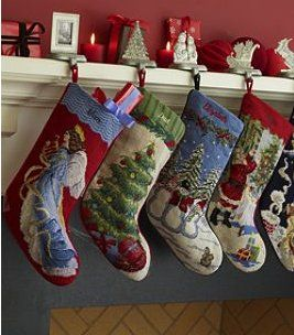 embroidered christmas stockings | been a fan of these Land's End needlepoint Christmas stockings ...