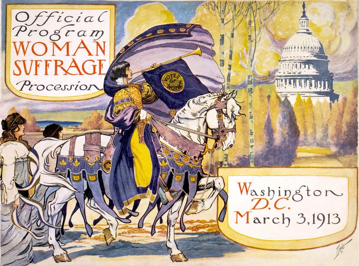 Woman Suffrage Procession. March 3, 1913.