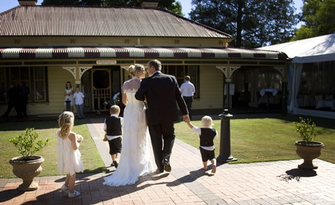 Yarramundi House is the ideal wedding ceremony and reception venue. The House features traditional wide verandahs, wrought iron fireplaces, elegant light fittings, original pressed metal ceilings, timber floors and French doors.  http://www.yarramundihouse.com.au/