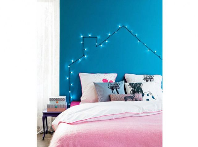 les 25 meilleures id es concernant t te de lit bleu sur. Black Bedroom Furniture Sets. Home Design Ideas