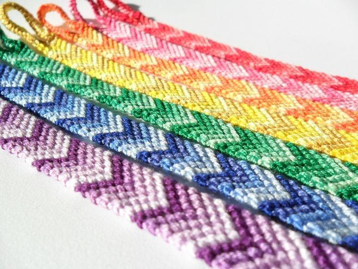 Friendship Bracelet - colorful chevrons