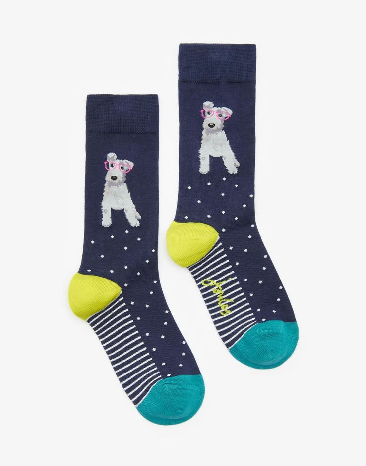 Brill Dog Bamboo Socks , Size One Size | Joules US