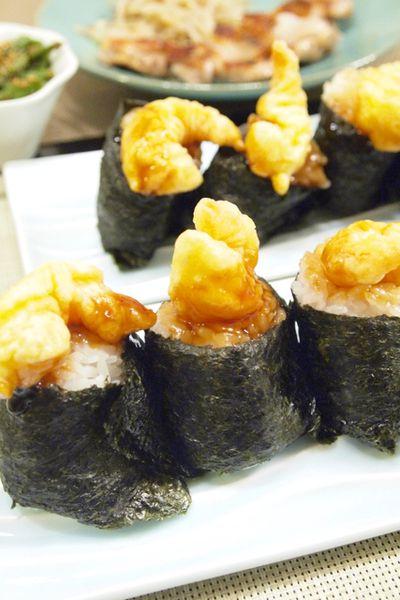 和食】「手作り天むす」&鶏もも肉のうま塩焼き&いんげんのバター ...