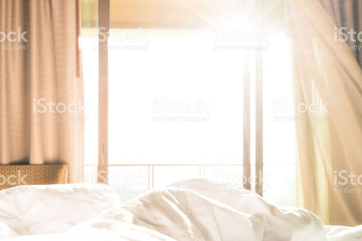 morning sunshine on the bed royalty-free stock photo