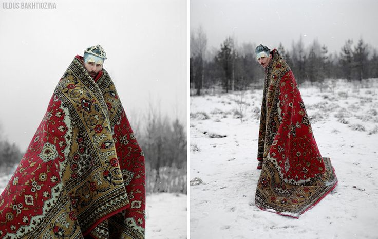 Photographer and artist Uldus Bakhtiozina's photos treat us to her unique vision of Russian fairy tales. She reinterprets them in her photos by focusing on the pagans roots and ethnography of Russ Land. The artist pays special attention to her ambivalent interpretation of the symbolism hidden in legends and myths.