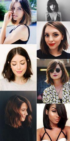 """Blunt Bob Haircut: O BB Cut é tendência para cabelos curtos em 2017. O corte reto """"brusco"""" é o queridinho das fashionistas. Super democrático, vai bem em cabelos curtos e médios e em diferentes texturas de cabelo. Com franja reta fica super moderno."""