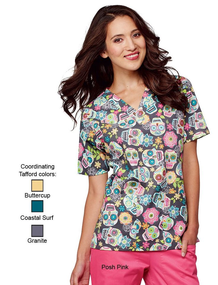 celebrate the day of the dead with tafford uniforms unique scrub designs for every holiday and season - Halloween Scrubs Uniforms