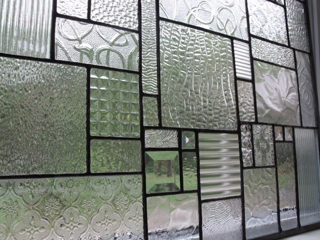clear textured glass - it's gorgeous!