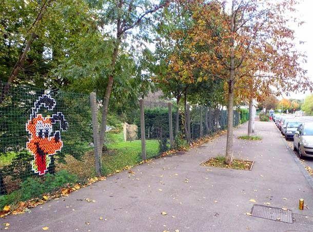 Urban X Stitch embroidery street art | Brain's Sparks
