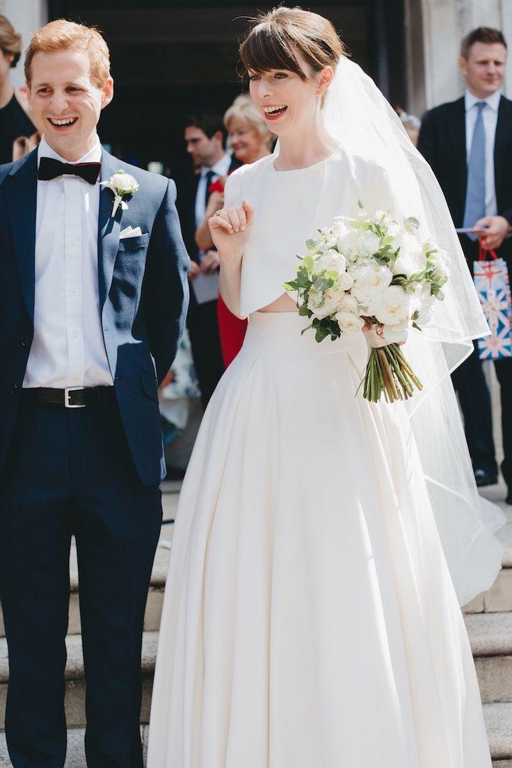 Elizabeth Stuart Moonflower Two-Piece Dress   Super Stylish Two-Piece Wedding Dresses