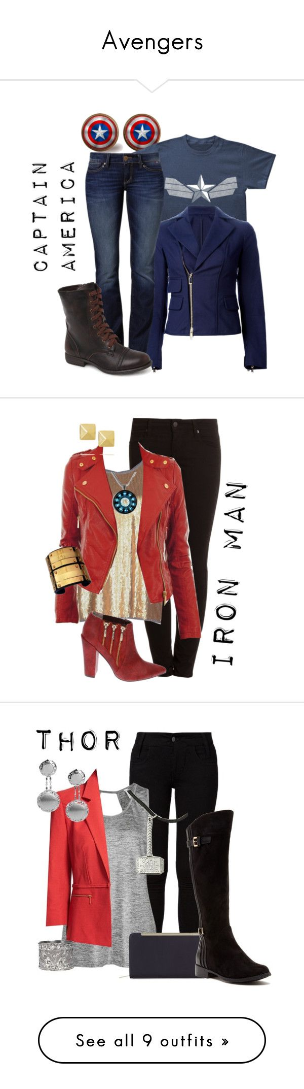 """Avengers"" by sharedpieceofcake ❤ liked on Polyvore"