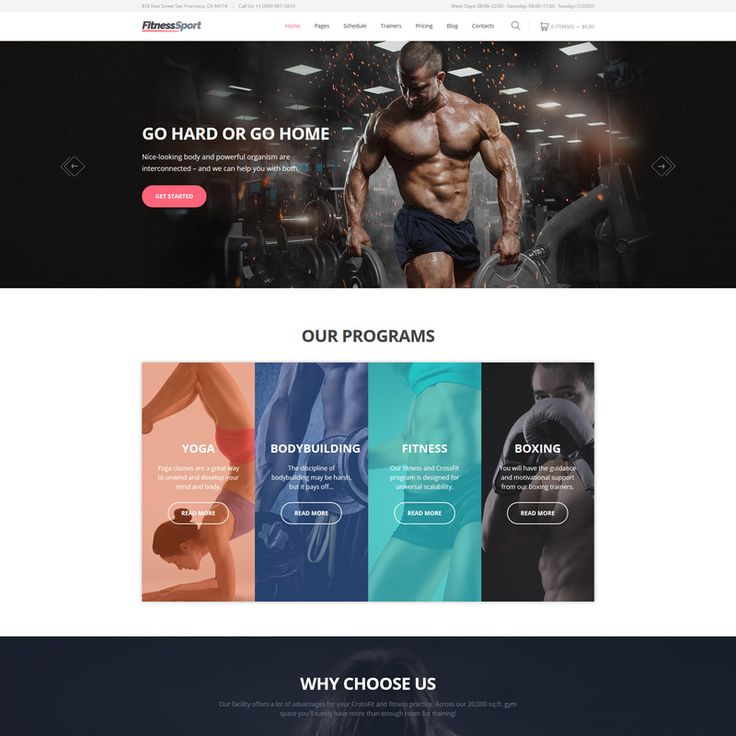 FitnessSport Parallax Website Template Small Screenshot