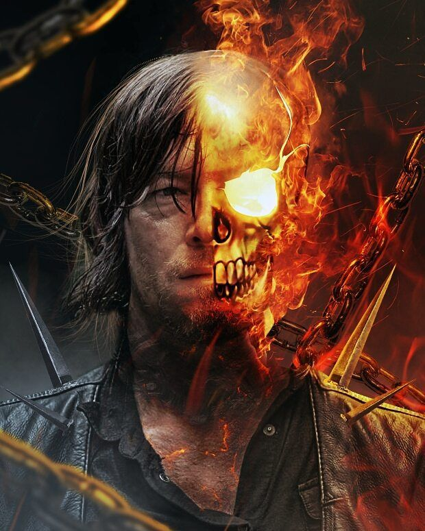 Norman Reedus as Ghost Rider!