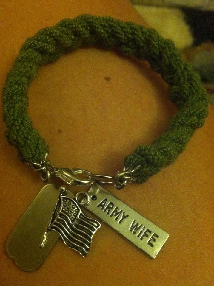 army wife bootband bracelet