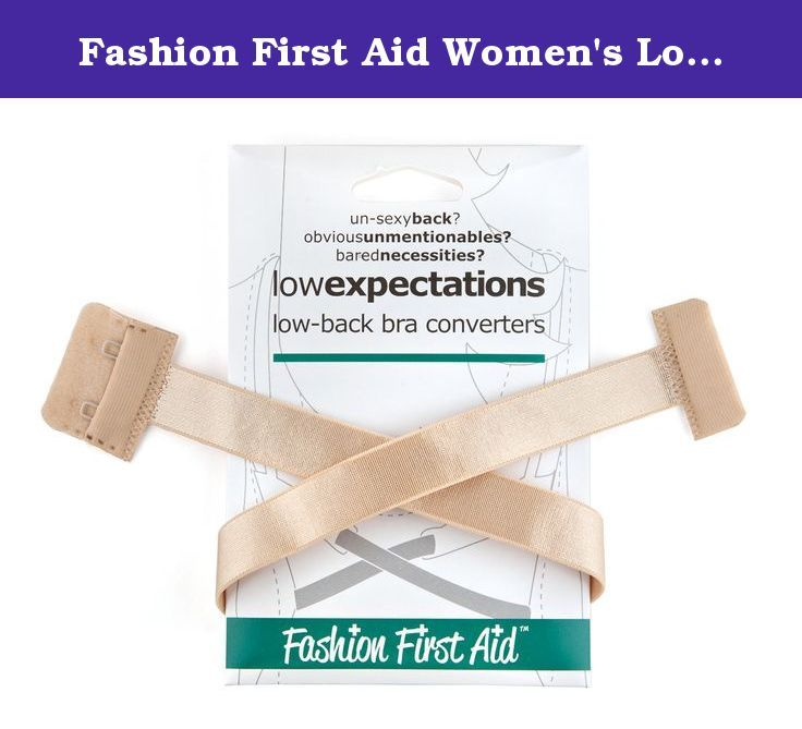 Fashion First Aid Women's Low Expectations Low Back Bra Converters with 2 Hooks. Put the sexy back in sexy back. Low Expectations low back bra strap hooks onto your existing bra to pull down the back strap, allowing you to wear low back styles while still having the support and discretion your normal bra affords. It lowers your bra band an average of 5 inches and saves you money by not having to buy a specialty bra, which never seems to fit well anyway. Using Low Expectations is easy -...