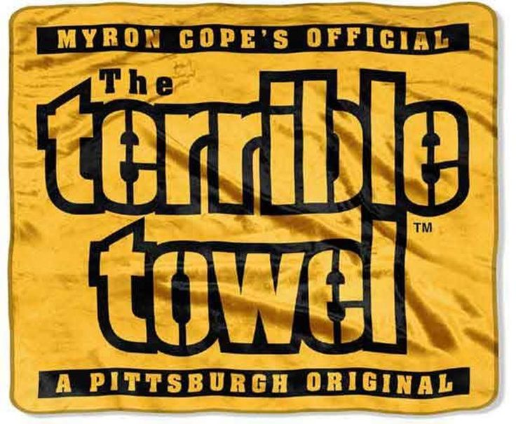 Pittsburgh Steelers Terrible Towel Silk Touch Blanket 60 x 80