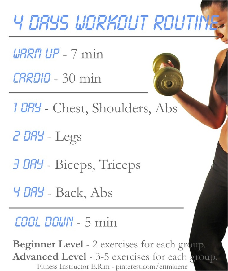 4 Days Workout Routine