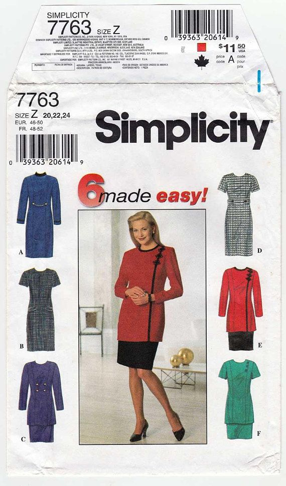 Women\'s Dress or Tunic and Skirt Plus Size Sewing Pattern | Plus ...