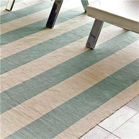 diy stripes...paint an ikea rug!