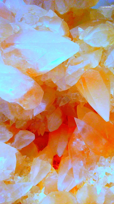 Crystal Agate tumblr wallpaper for iPhone 6 blue orange