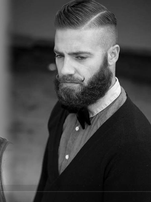 Awesome Comb Over Fade Haircut with Line for Men