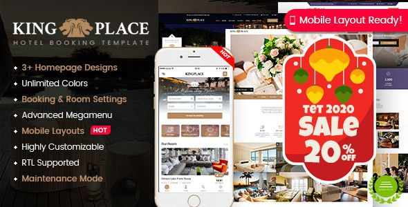 Kingplace Hotel Booking Spa Resort Wordpress Theme Mobile