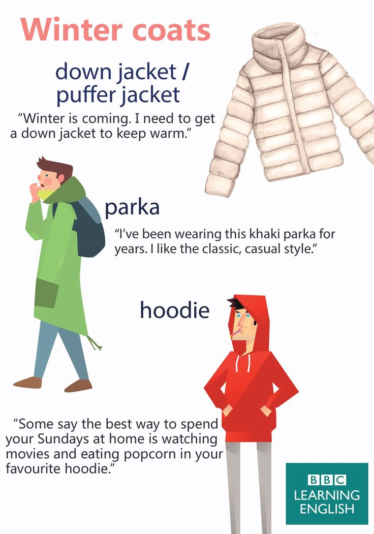 Vocabulary: Winter coats