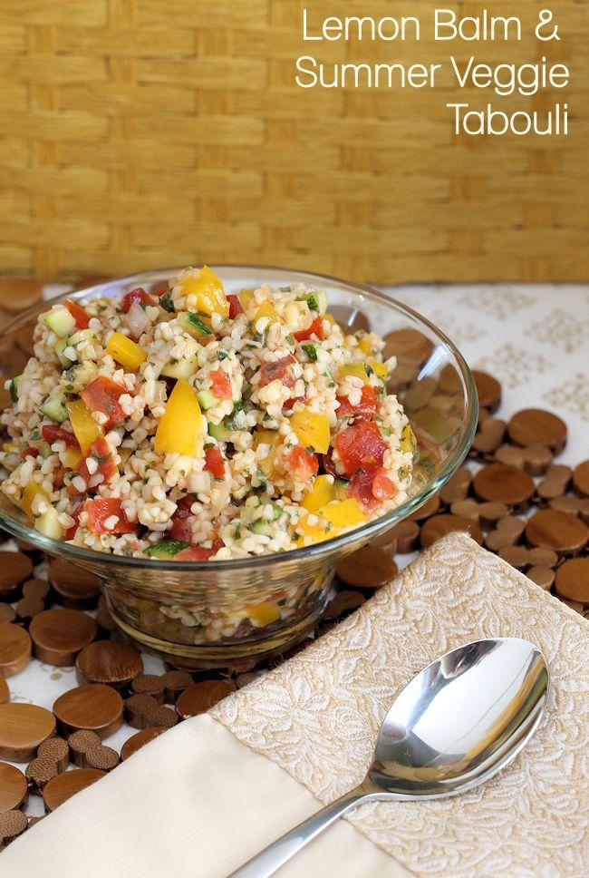 Lemon Balm & Summer Veggie Tabouli Salad Recipe #BHGSummer