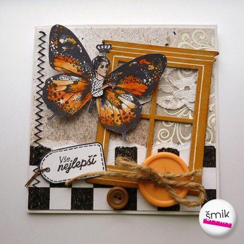 Přání s pomerančovým motýlem
