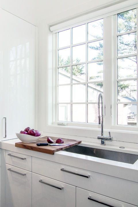 """Unfixed elements can transform a kitchen and make it a truly adaptable space. Levant Bland encourages the use of sliding countertops. """"I love to do a cutting board that slides over the sink so the sink disappears,"""" she explains."""