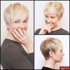Fryzury  Blond włosy: Fryzury Krótkie Na co dzień Proste z grzywką Rozpuszczone Blond - ladyluscious - 2636178