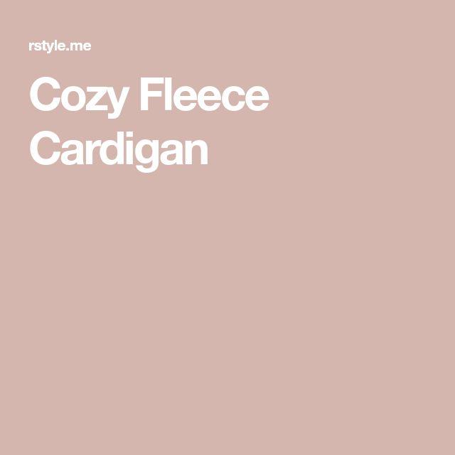 Cozy Fleece Cardigan