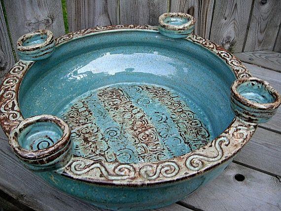 Pottery wedding gift showpiece ceramic centerpiece or