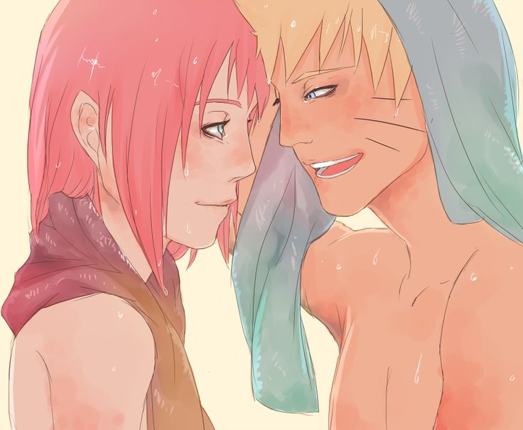 Scene with Naruto couple hentai love