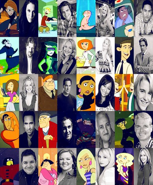 Voice actors for Kim Possible. Some of them just blew my mind.