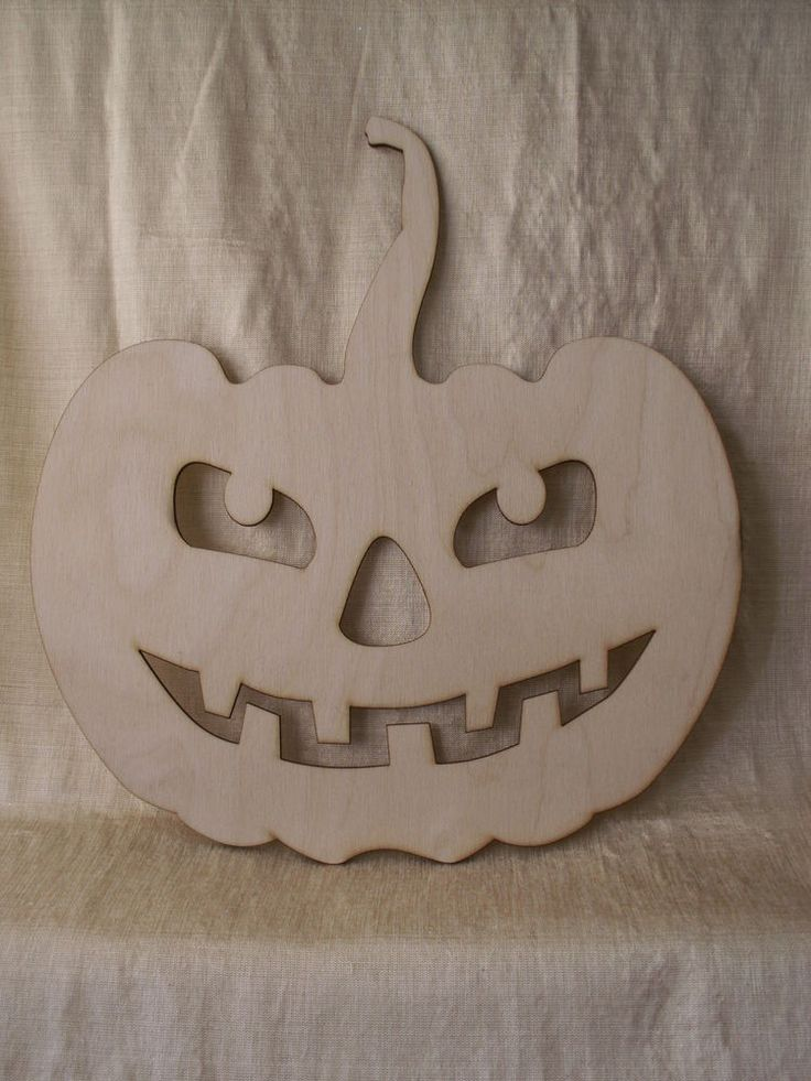 Halloween Pumpkin Wood Shape Laser Cutouts Unfinished Wood