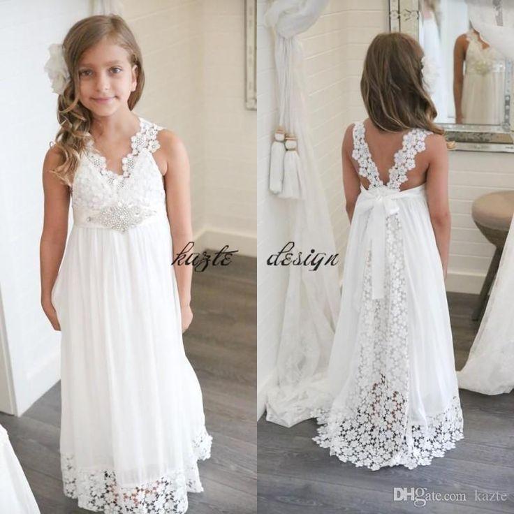 186 besten Flower Girl Beach Wedding Dress Bilder auf Pinterest ...