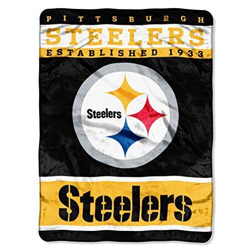 NFL Pittsburgh Steelers Plush Raschel Blanket, 60 x 80-Inch, Black Northwest http://www.amazon.com/dp/B00KW4VXUK/ref=cm_sw_r_pi_dp_UFRDub137ZEQK