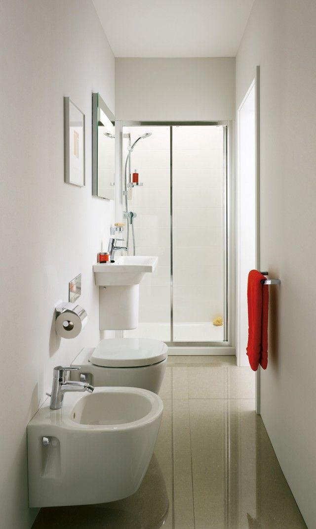 Oltre 25 fantastiche idee su bagno piccolo stretto su - Specchio romantico riflessi prezzo ...
