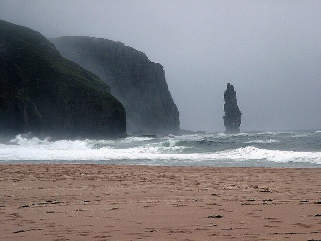 Sea Stack, Sandwood Bay, Sutherland, Scotland by Dave Cleghorn on Flickr