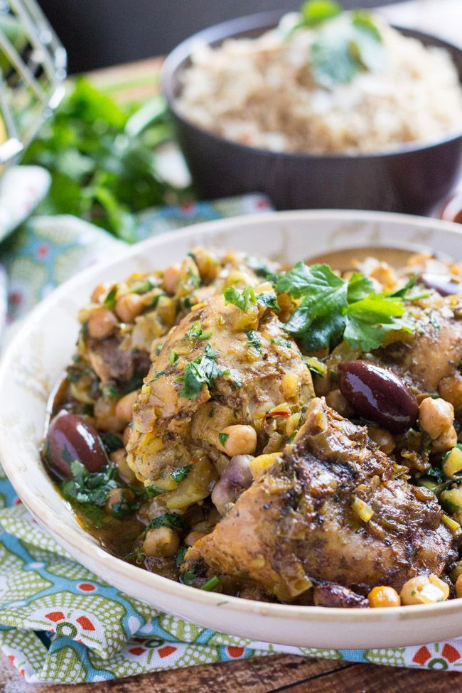 Slow Cooker Moroccan Chicken Tagine. Quick to put together and freezes ...